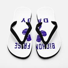 Bichon Frise Daddy Designs Flip Flops