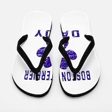 Boston Terrier Daddy Designs Flip Flops