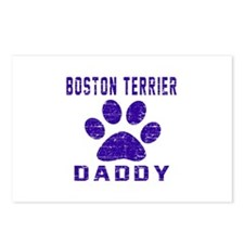 Boston Terrier Daddy Desi Postcards (Package of 8)