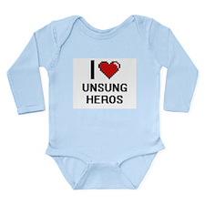 I love Unsung Heros digital design Body Suit