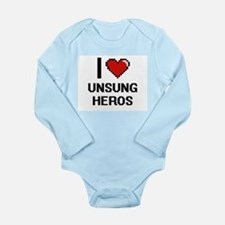 I love Unsung Heros digital design Body Suit