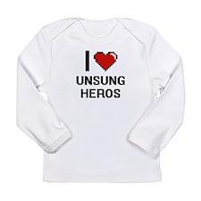 I love Unsung Heros digital de Long Sleeve T-Shirt