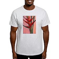 Hawaiian Ginger Flower Ash Grey T-Shirt