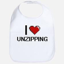 I love Unzipping digital design Bib