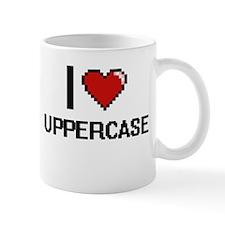 I love Uppercase digital design Mugs
