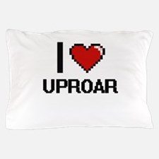 I love Uproar digital design Pillow Case