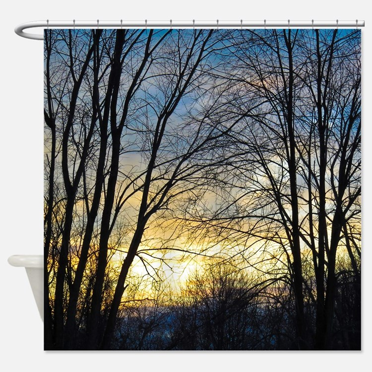 Scenic Shower Curtains Scenic Fabric Shower Curtain Liner