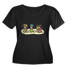 Hula Monkey Girls T