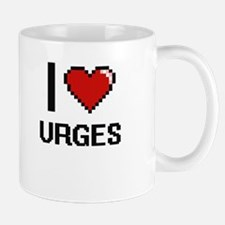 I love Urges digital design Mugs