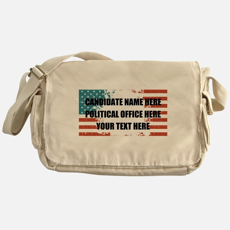 Personalized USA President Messenger Bag