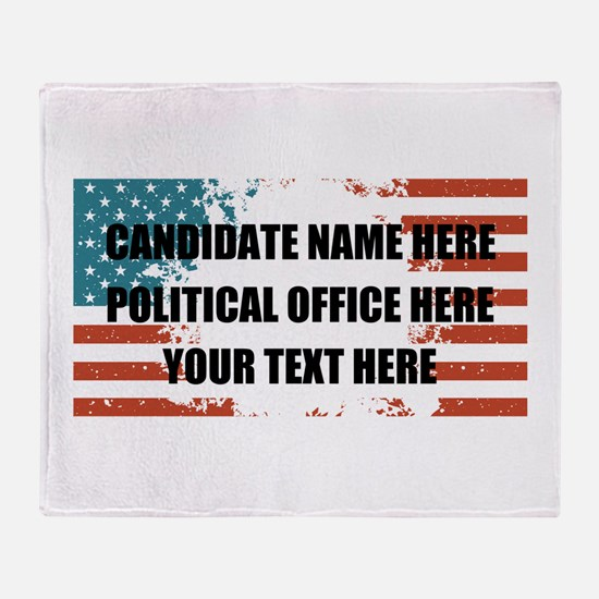 Personalized USA President Throw Blanket