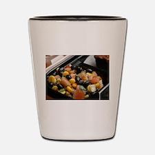 Blackbean and Corn Salad Shot Glass