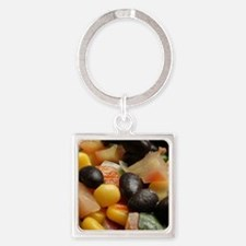 Blackbean and Corn Salad Keychains