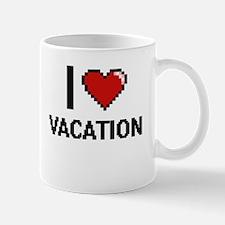 I love Vacation digital design Mugs