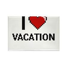 I love Vacation digital design Magnets
