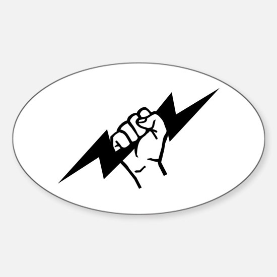 Flash Electrician Sticker (Oval)