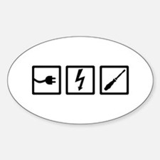 Electrician equipment Sticker (Oval)