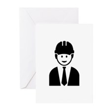 Engineer architect Greeting Cards (Pk of 20)