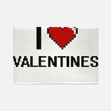 I love Valentines digital design Magnets