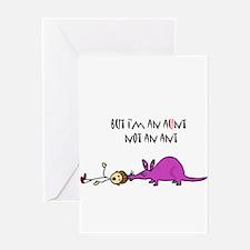 Funny Aardvark Cartoon Greeting Cards