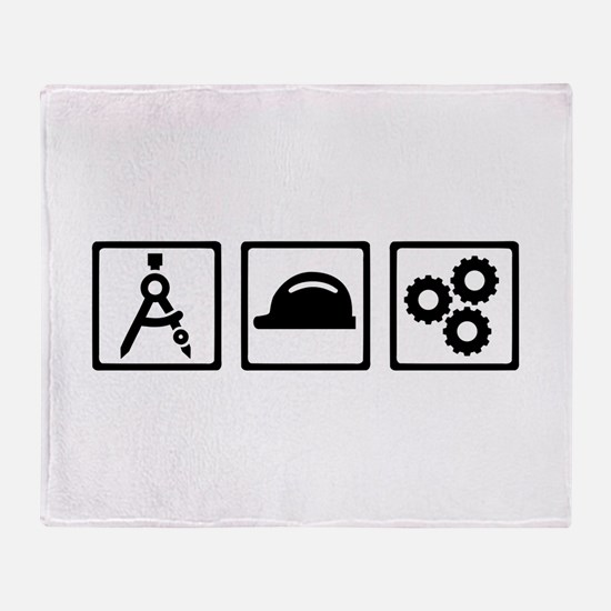 Engineer Architect set Throw Blanket