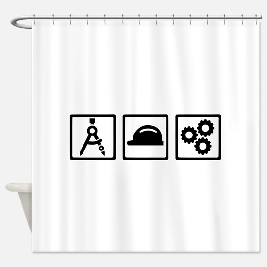 Engineer Architect set Shower Curtain