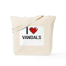 I love Vandals digital design Tote Bag