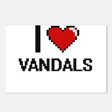 I love Vandals digital de Postcards (Package of 8)