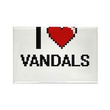 I love Vandals digital design Magnets