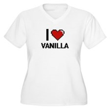 I love Vanilla digital design Plus Size T-Shirt