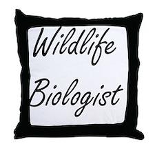 Wildlife Biologist Artistic Job Desig Throw Pillow