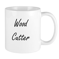 Wood Cutter Artistic Job Design Mugs
