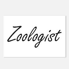 Zoologist Artistic Job De Postcards (Package of 8)