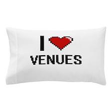 I love Venues digital design Pillow Case