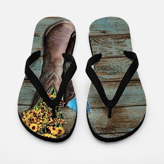 cowboy boots Flip Flops