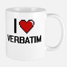 I love Verbatim digital design Mugs
