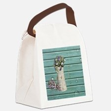 barn wood  Canvas Lunch Bag