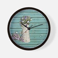 barn wood  Wall Clock
