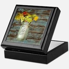 country mason jar flower  Keepsake Box
