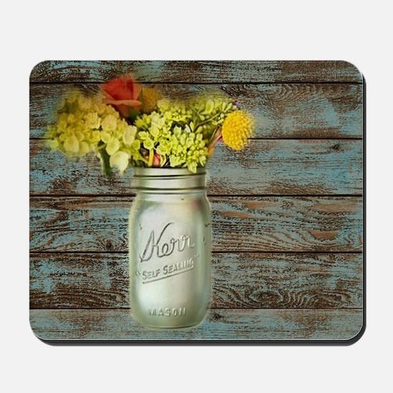 country mason jar flower  Mousepad