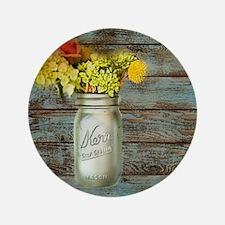 country mason jar flower  Button
