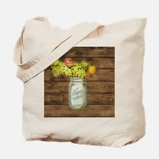 country mason jar flower  Tote Bag
