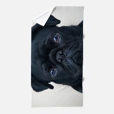 Pug Face Beach Towel