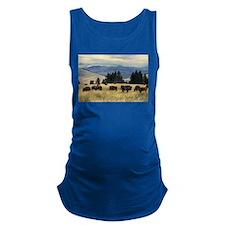 National Parks Bison Herd Maternity Tank Top