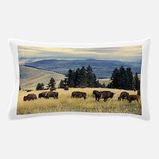 National Parks Bison Herd Pillow Case