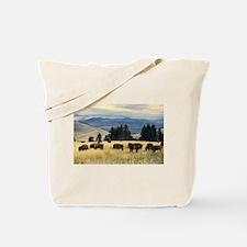 National Parks Bison Herd Tote Bag
