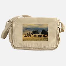 National Parks Bison Herd Messenger Bag