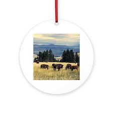 National Parks Bison Herd Round Ornament