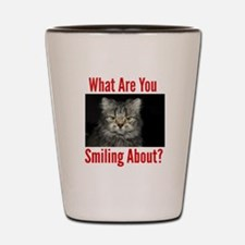What Are You Smiling About Shot Glass