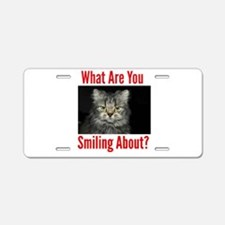 What Are You Smiling About Aluminum License Plate
